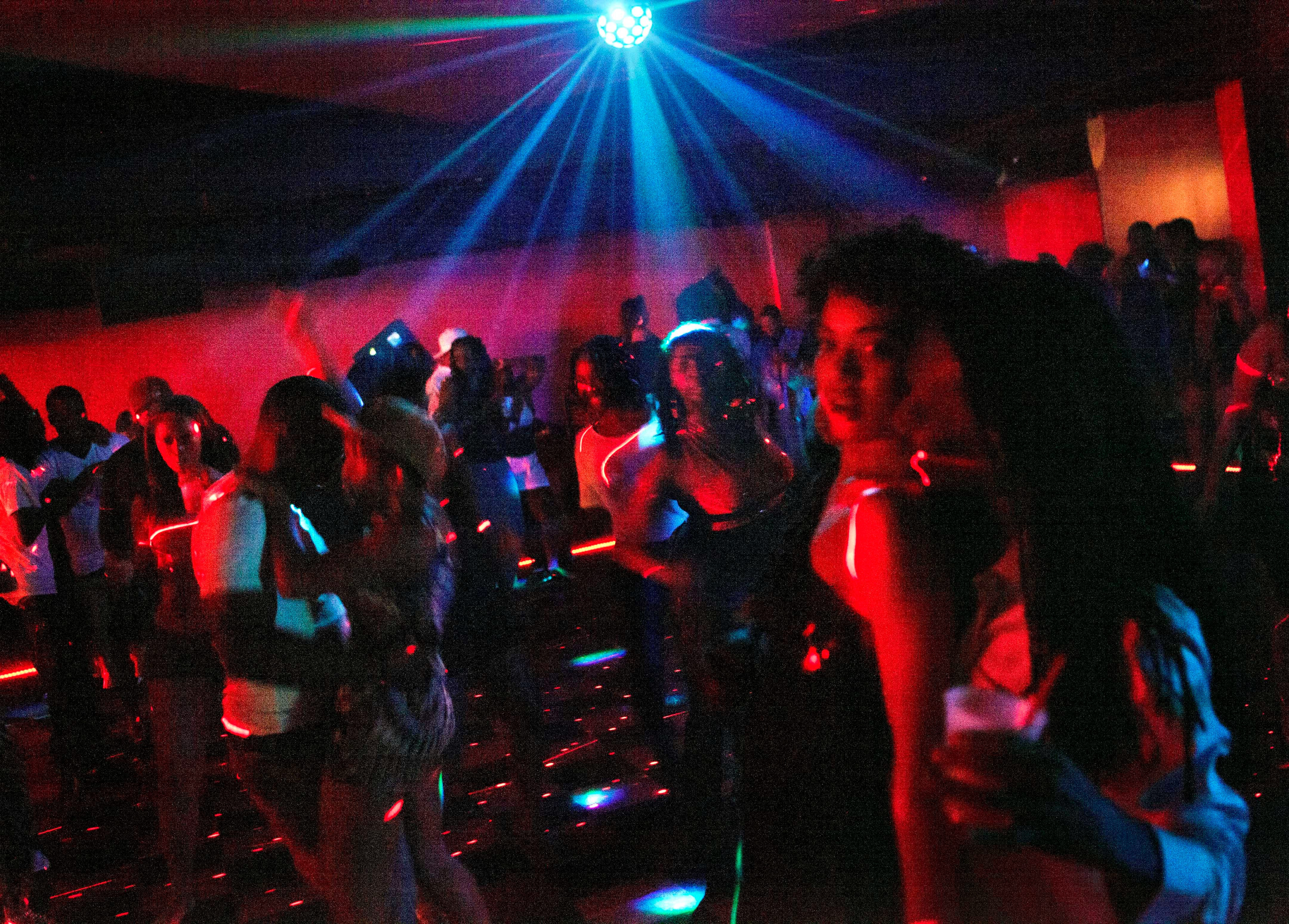 Lauren Karthyn, right, dances at the Royal Peacock Club on Auburn Avenue, once patronized by celebrities such as Joe Louis and Jackie Robinson and where entertainers Ray Charles, Aretha Franklin and James Brown all performed, Saturday, June 9, 2012, in Atlanta.