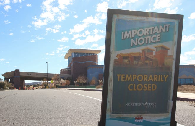 The Northern Edge Casino in Upper Fruitland Chapter remains closed on Oct. 30.