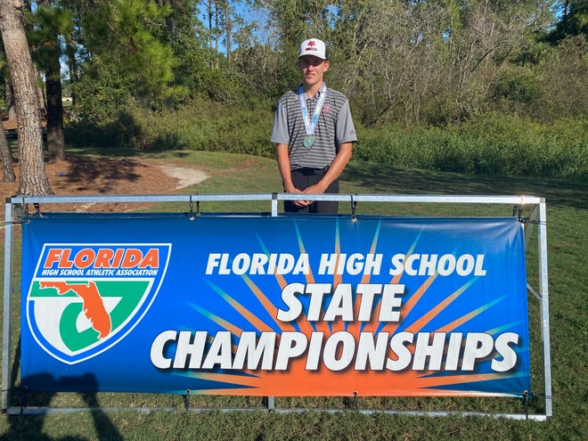Vero Beach High's James Hassell won the Class 3A state golf title on Saturday, Oct. 31, 2020.
