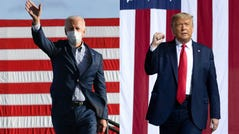 Mail voting favored Democratic presidential nominee Joe Biden, and in-person voting tended toward President Donald Trump.