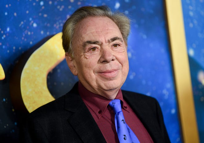 """Composer and executive producer Andrew Lloyd Webber attending the world premiere of """"Cats"""" in New York. Webber is celebrating the 50th anniversary of the release of his """"Jesus Christ Superstar"""" album with the first single from his latest musical — """"Cinderella."""" The song is called """"Bad Cinderella"""" and is sung by Carrie Hope Fletcher, who plays the title character in what is being billed as a """"complete reinvention of the classic fairytale."""""""