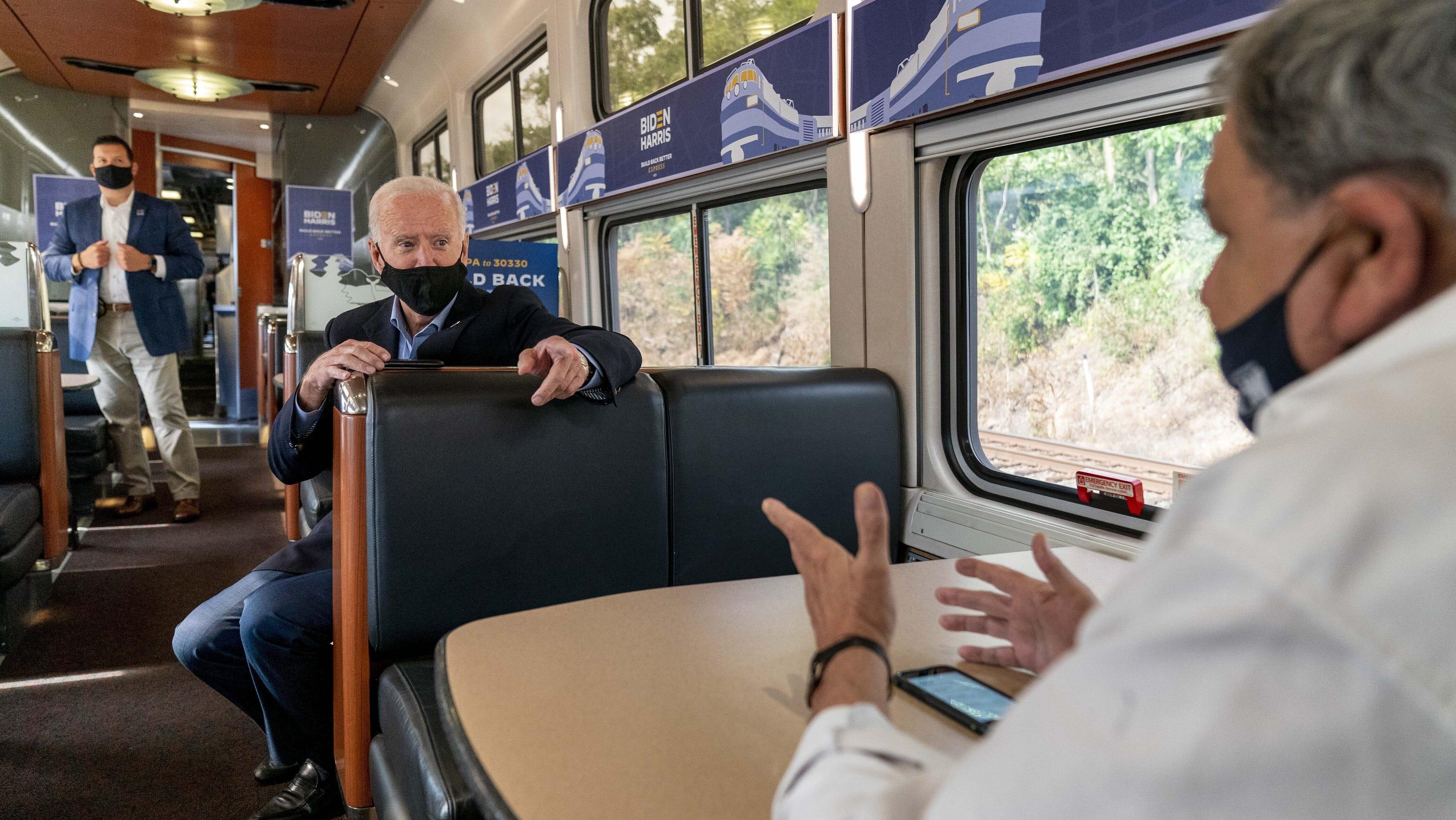 aa70016f 4c66 4749 81e4 3a9c895dbe88 joe biden on train from cleveland 9 30 20 - Joe Biden the railroad President