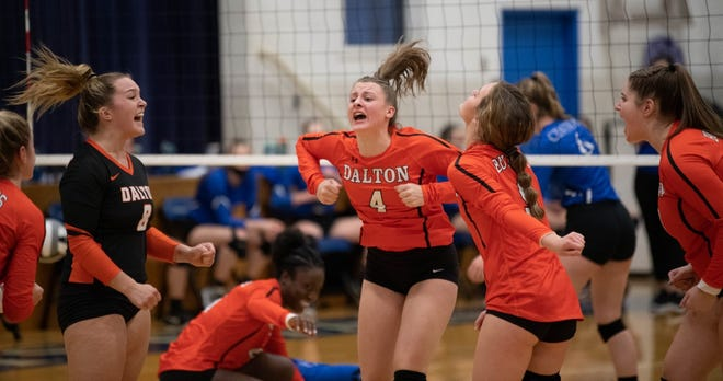 Dalton had plenty to celebrate after upsetting top-seeded Central Christian on the road to win a fifth straight district title.