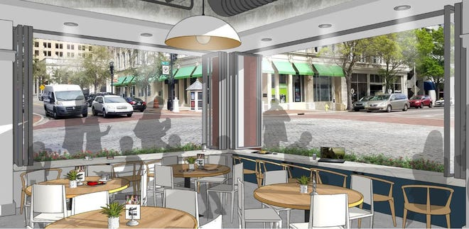 Construction is expected to begin this week on The Bread & Board restaurant at Vystar Tower, 100 W. Bay St., in downtown Jacksonville. It will be the third Bread & Board in the city and will include a specialty marketplace — Bread & Board Provisions — stocked with top culinary offerings from local craft breweries and other retailers.