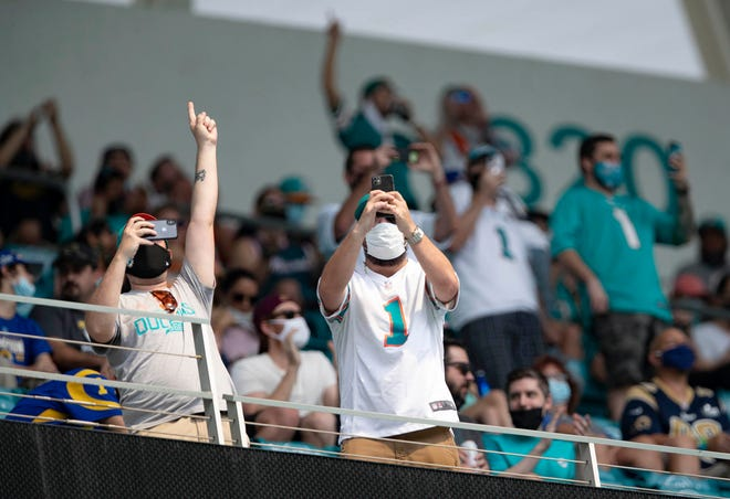 The Dolphins drew a season-high 12,397 fans for their most recent home game, against the Los Angeles Rams.