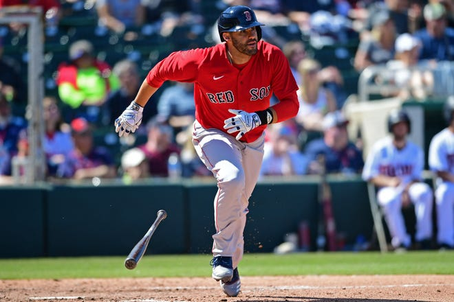 JD Martinez has looked in fine form at the plate for the Red Sox during spring training in Fort Myers, Fla.