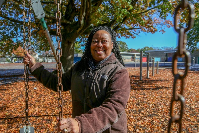 Chrystal Wheeler, seen here at Cranston's Stadium Elementary School, is among those who've answered the governor's call to boost the ranks of substitute teachers in Rhode Island.