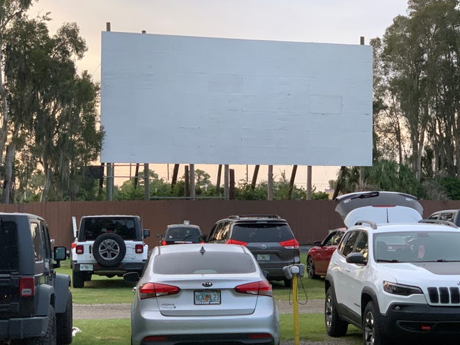 Ruskin Family Drive-In, pictured here, is one of multiple Florida drive-in movie theaters close to Sarasota-Manatee. Drive-ins have experienced renewed popularity as a socially distanced entertainment option during the pandemic.