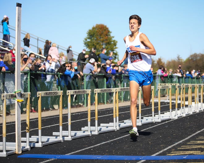 Hilliard Davidson's Connor Ackley won the Division I regional boys cross country meet in 15:44.6 on Oct. 31 at Pickerington North. His performance also led the Wildcats to the team championship.