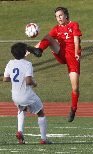 Ethan Archer and Thomas Worthington won a Division I district title Oct. 31, defeating Dublin Jerome 1-0 (4-3 shootout).
