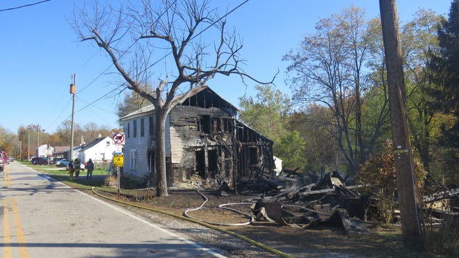 A 14-year-old teen was charged with arson after a fire burned two homes on Leesville Roadin Jefferson Township on Saturday.