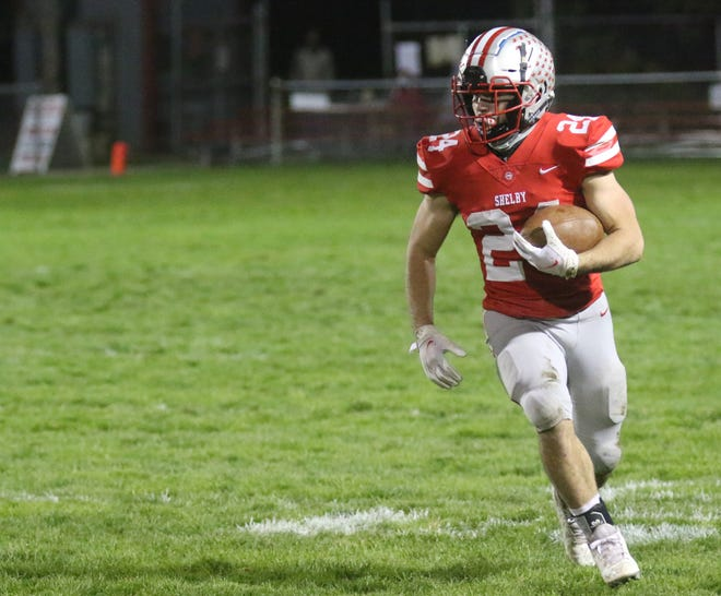 Shelby's Owen Fisher was named the 2020 Mansfield News Journal co-Offensive Player of the Year.