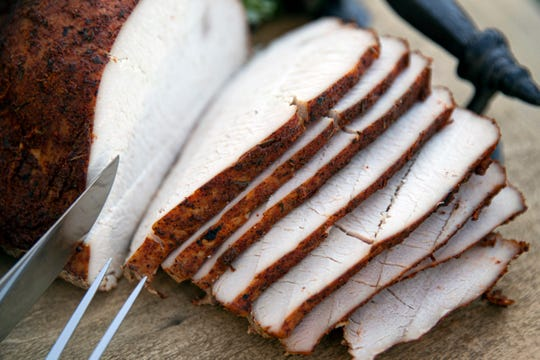 The house smoked boneless turkey breast at Curbside Casserole in Memphis, Tenn., on Saturday, October 31, 2020.