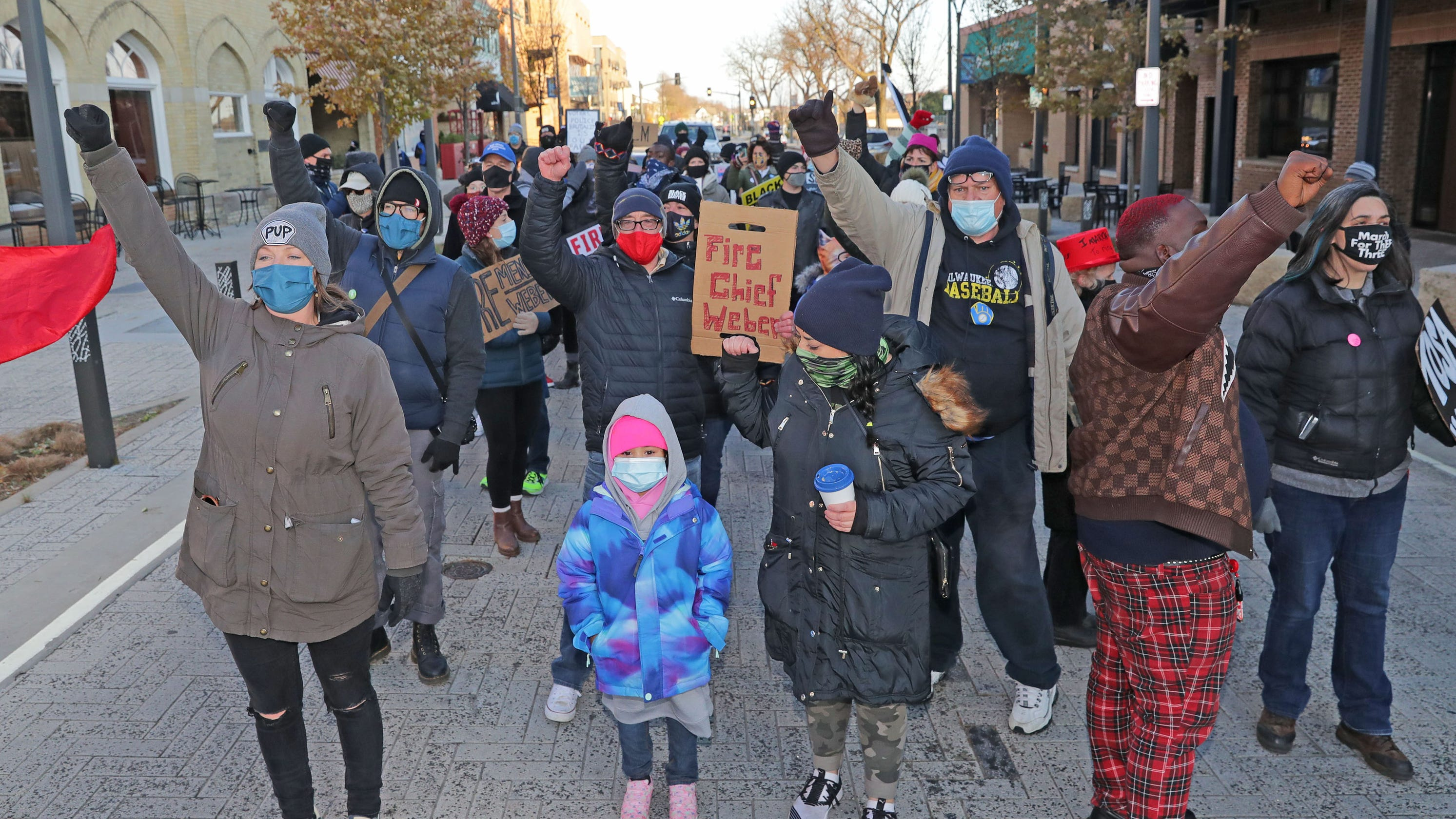 'The police are making us look bad': Protesters march through Wauwatosa calling for change