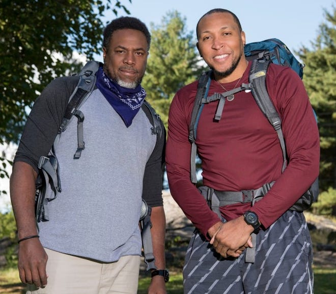 Former Phoenix Suns Cedric Ceballos (L) and Shawn Marion (R), retired NBA stars from Glendale, CA and Chicago, IL on the 30th season of THE AMAZING RACE will premiere during the 2017-2018 television season on the CBS Television Network.