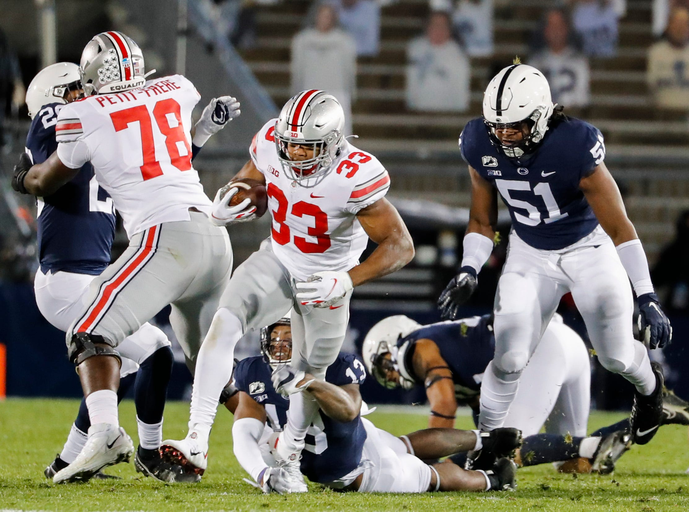 Ohio State largely cruises in Buckeyes' biggest win at Penn State since 2010