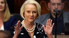 Cindy McCain on Jan. 13, 2020, in Phoenix.