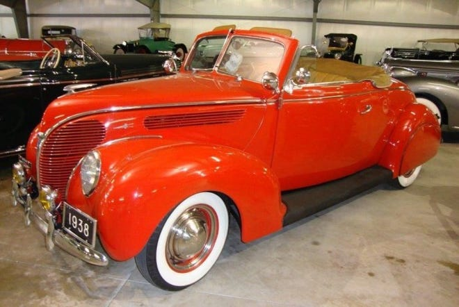 Wadsworth resident John Swigart first bought this 1938 Ford Model 760-A Deluxe Convertible Coupe in 1951. He bought it again in 2013 after tracking it to a man in Missouri.