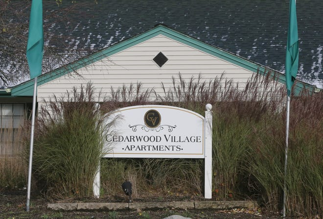Cedarwood Village Apartments has been the most aggressive filer of evictions in Akron this year.