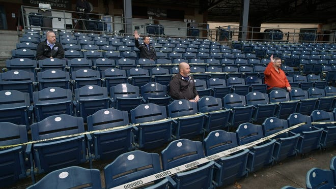 """Four Goodyear workers talk to """"60 Minutes"""" about the 2020 election at Canal Park."""