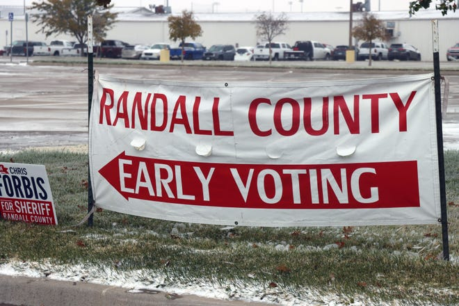 Randall County promotes early voting. Election Day voting will start Tuesday.  [Neil Starkey / For the Amarillo Globe-News]
