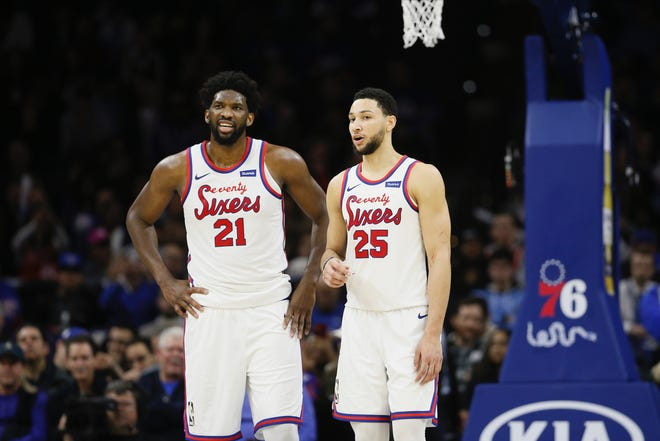 Joel Embiid, left, and Ben Simmons are expected to remain the centerpieces in the 2020-21 Sixers with Daryl Morey and Doc Rivers.