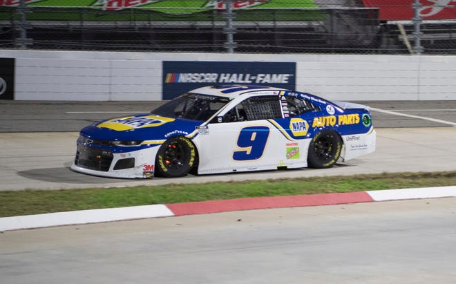 Chase Elliott won Sunday's race to earn his first berth in the championship four. [Lee Luther Jr./Associated Press]