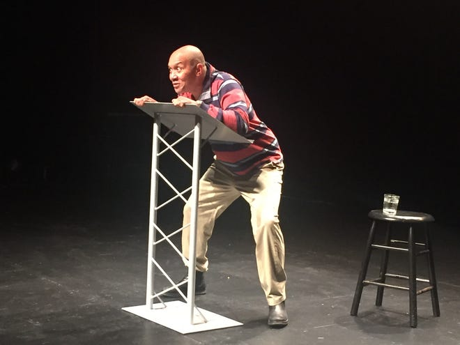 """Freddie Biddle performing """"The Man"""" is one of the pieces in the video version of Sailor Beware's """"S'ELECTION 2020: Morning After Monologues"""" that are about the aftermath of the presidential election."""