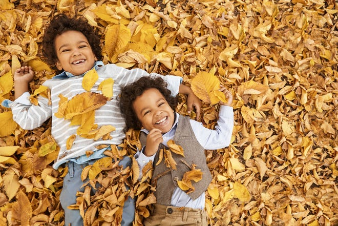Fallen leaves can be a source of fall fun