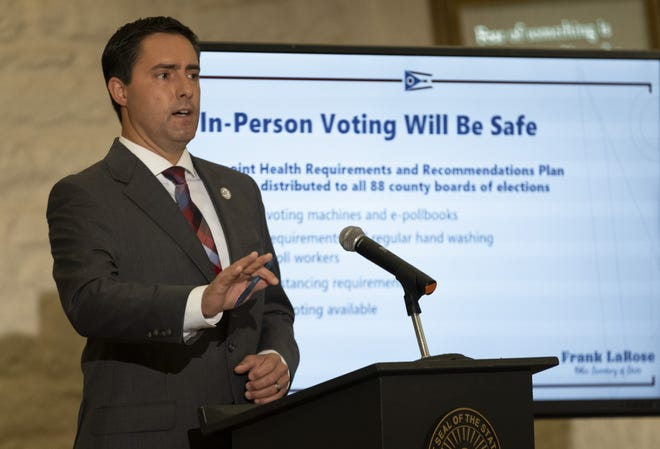 Ohio Secretary of State Frank LaRose  says the state could set a record for voter turnout in Tuesday's election.