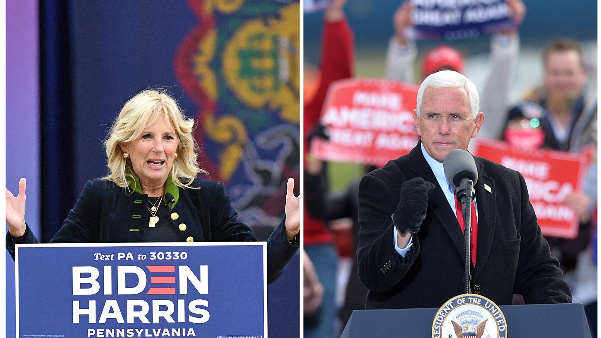 Election update: Jill Biden, Mike Pence hold campaign ...