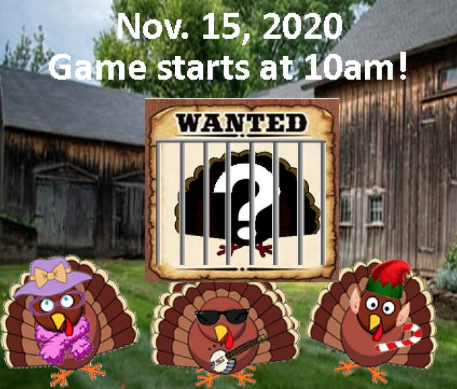 Participants can solve the Grafton Recreation Department's popular November turkey challenge this year using their mobile devices. The annual event begins at 10 a.m. Sunday, Nov. 15, 2020, at the Common.