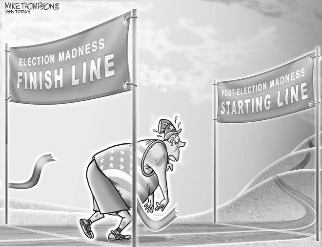 A cartoon by Mike Thompson