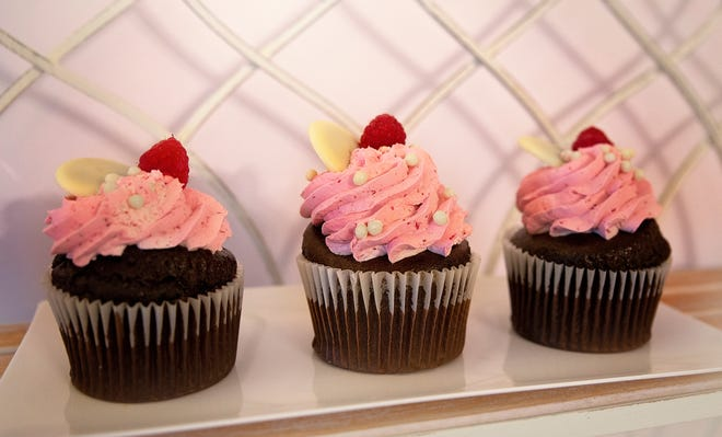 Chocolate raspberry cupcakes are one of a variety of cupcakes sold at Wicked Sweets by Alyssa.