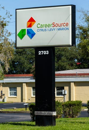 The Career Source Citrus/Levy/Marion sign on Monday afternoon