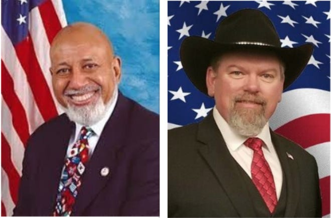 Incumbent Alcee Hastings (Democrat), left, and Greg Musselwhite (Republican) are candidates for the Florida U.S. House District 20 race.
