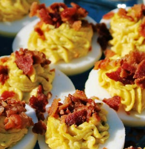 Rosie's Deviled Eggs from Hope and Main, the culinary business incubator in Warren, will be one of the food vendors at the new Pawtucket Open Market which begins Saturday.