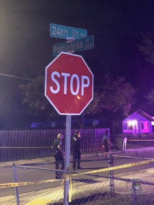 One man was injured in a shooting at 24th Street and Palmadelia Avenue Sunday, Nov. 1, 2020.
