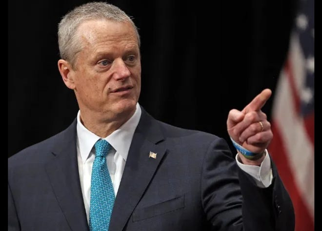 Gov. Charlie Baker at a recent press conference.