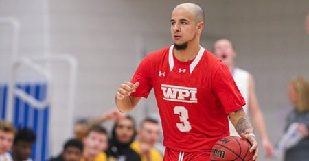 WPI men's basketball player Kahleb Downing and his teammates suffered a setback on Monday when the NEWMAC elected to suspend  conference play for the upcoming season due to continued COVID-19 concerns.