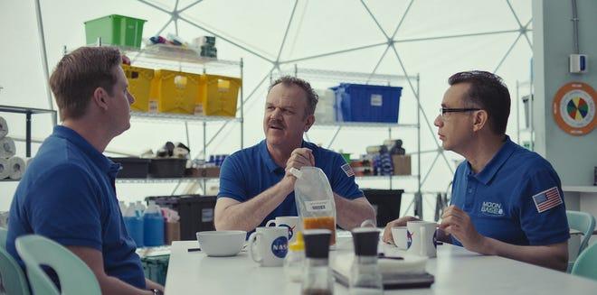 """From left, Tim Heidecker, John C. Reilly and Fred Armisen star in in """"Moonbase 8."""""""