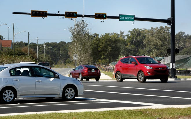 Traffic moves around Clark Butler Boulevard. A new connector planned between Southwest 62nd Boulevard and Clark Butler Boulevard is intended to divert traffic from Interstate 75.
