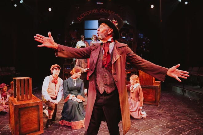 """The Hippodrome Theatre will offer streaming performances of its annual production of """"A Christmas Carol"""" on Dec. 11-24 on its website, thehipp.org."""