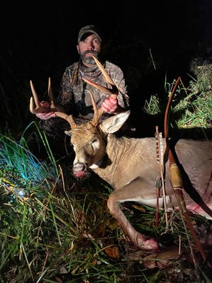 Dover's Aaron Couts took this deer with homemade bow.