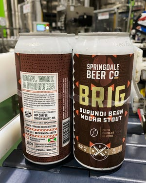 Burundi BRIG is Springdale's latest version of the Framingham brewery's popular mocha stout. This time, though, Springdale spotlighted the coffee beans used in the brew.
