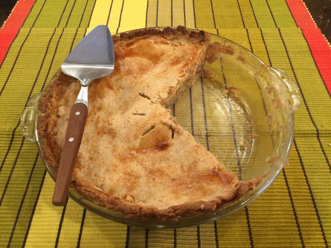 This apple pie crust uses walnuts as a secret ingredient.