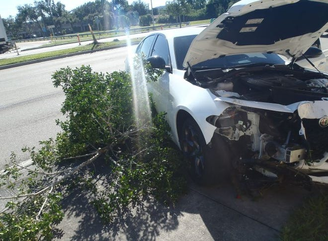 A man driving 2019 Alfa Romeo carelessly along Summerlin near Brantley Road  crashed into a 2013 Chrysler around 8:30 a.m. Monday, injuring the driver and a passenger.
