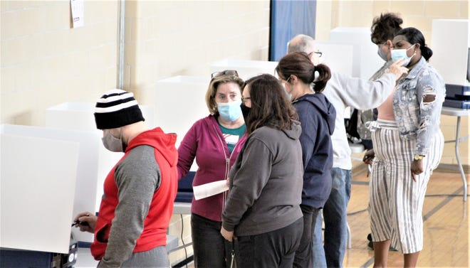 Poll workers at the Marion County early voting center in downtown Marion said there was a steady stream of voters on Monday, Nov. 2, 2020. That was the final day of early voting in Ohio.