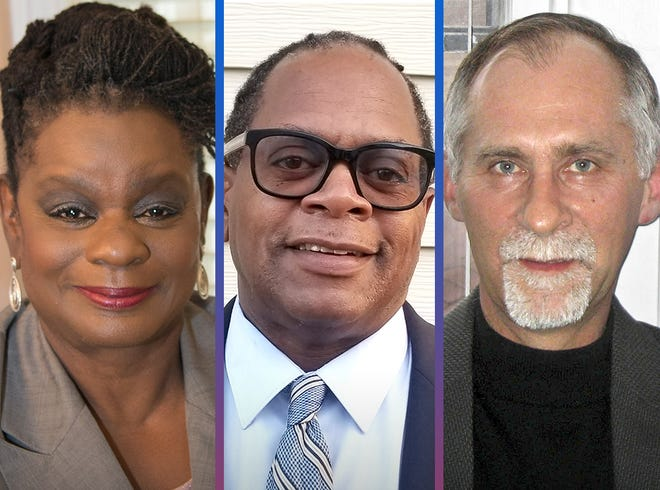 MATCHUP ELECTION 2020: Congressional District 4, left to right, incumbent Gwen Moore (D), candidate Tim Rogers (R) and candidate Robert Raymond (I).