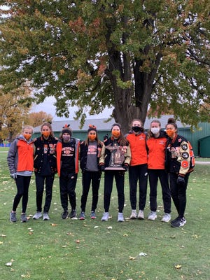 The Northville girls cross country team won the regional title last week.